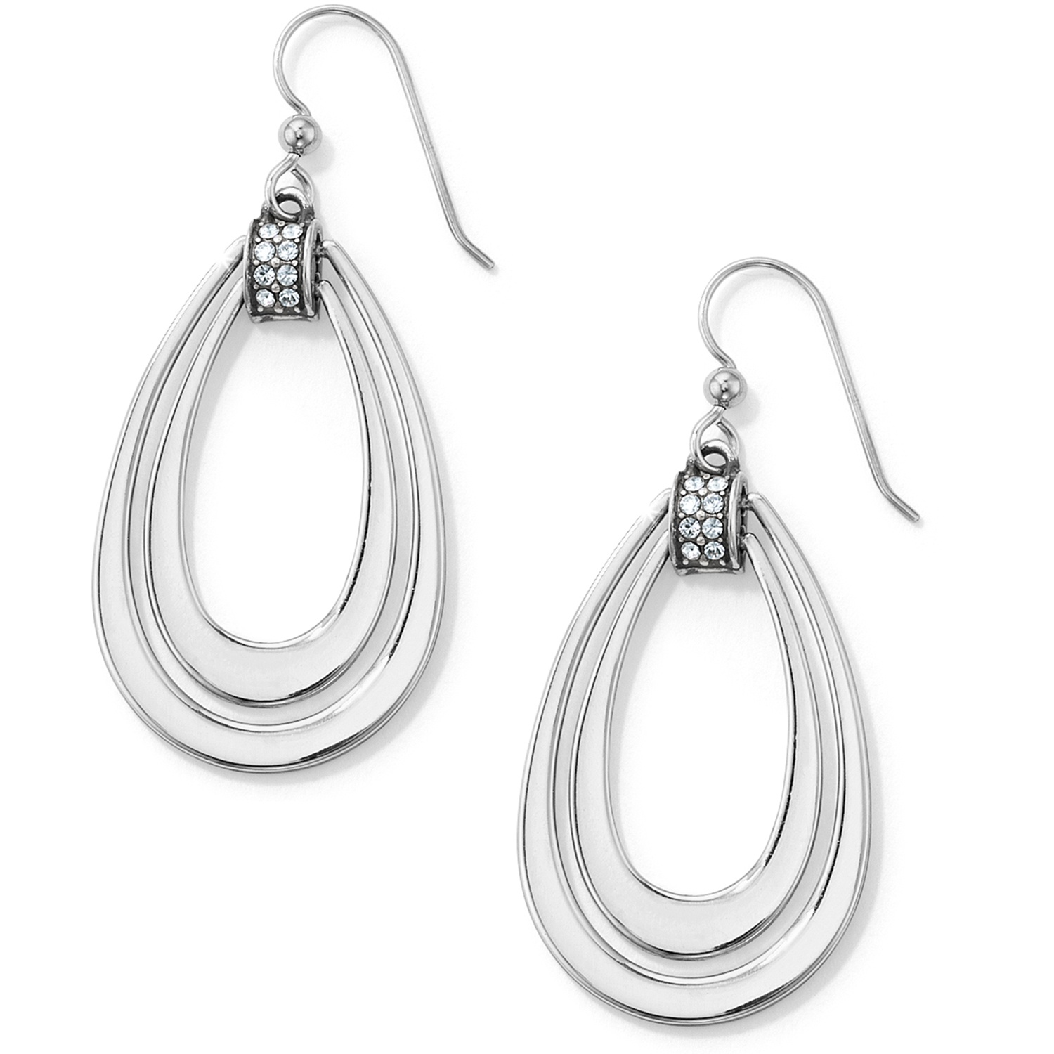 silver stella p ada dot earrings wire