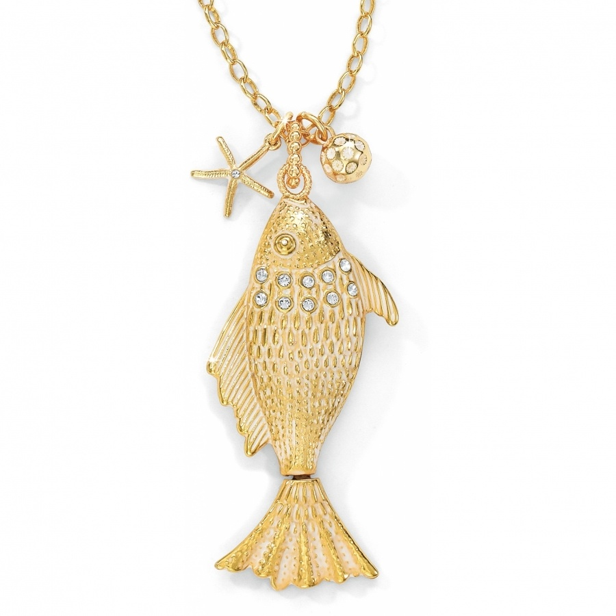 Marine Gold Marine Gold Fish Convertible Necklace Necklaces