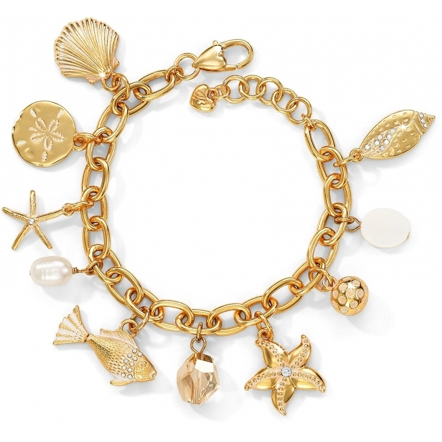 Marine Gold Charm Bracelet Alternate View 1
