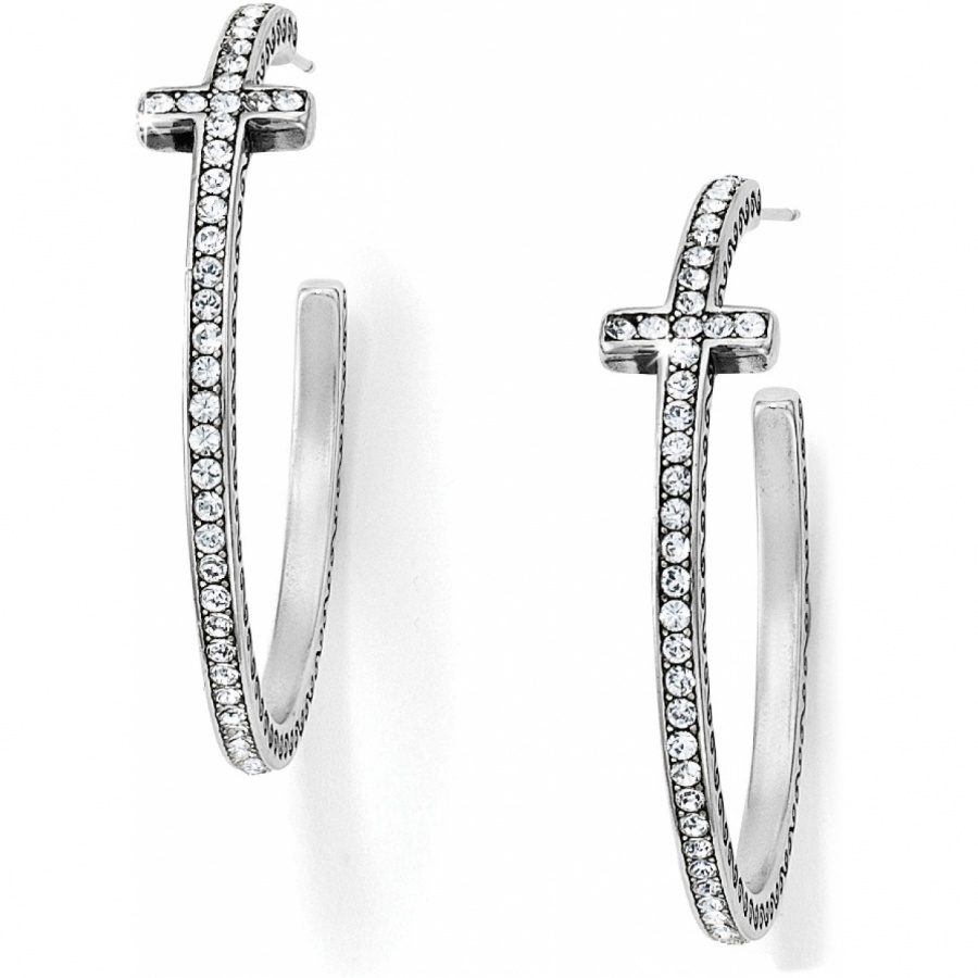 cross earrings starry cross starry cross hoop earrings earrings 8295