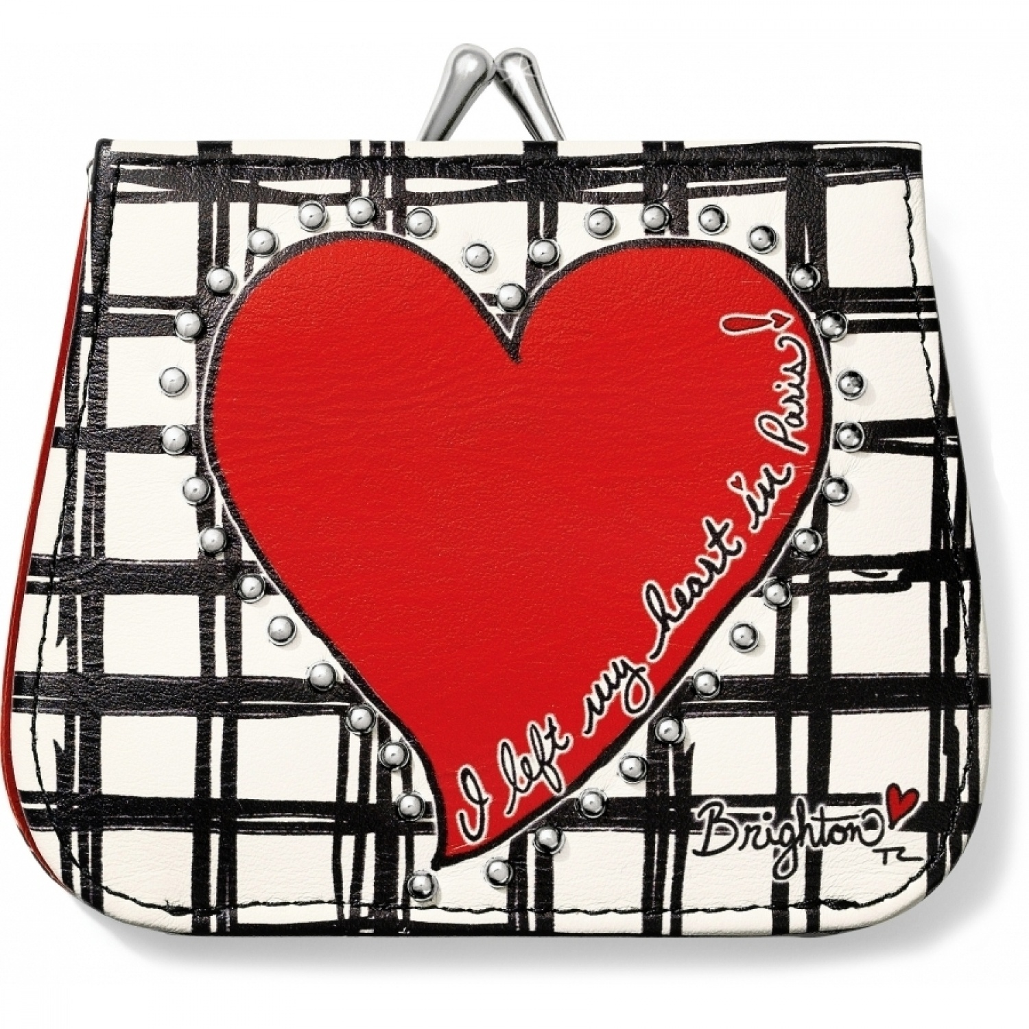 Fashionista Paris Heart French Kiss Wallet Small Wallets | Tuggl