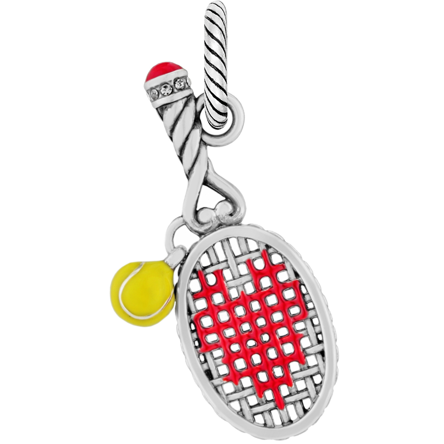 Sports abc love tennis charm charms abc love tennis charm alternate view 4 aloadofball Images