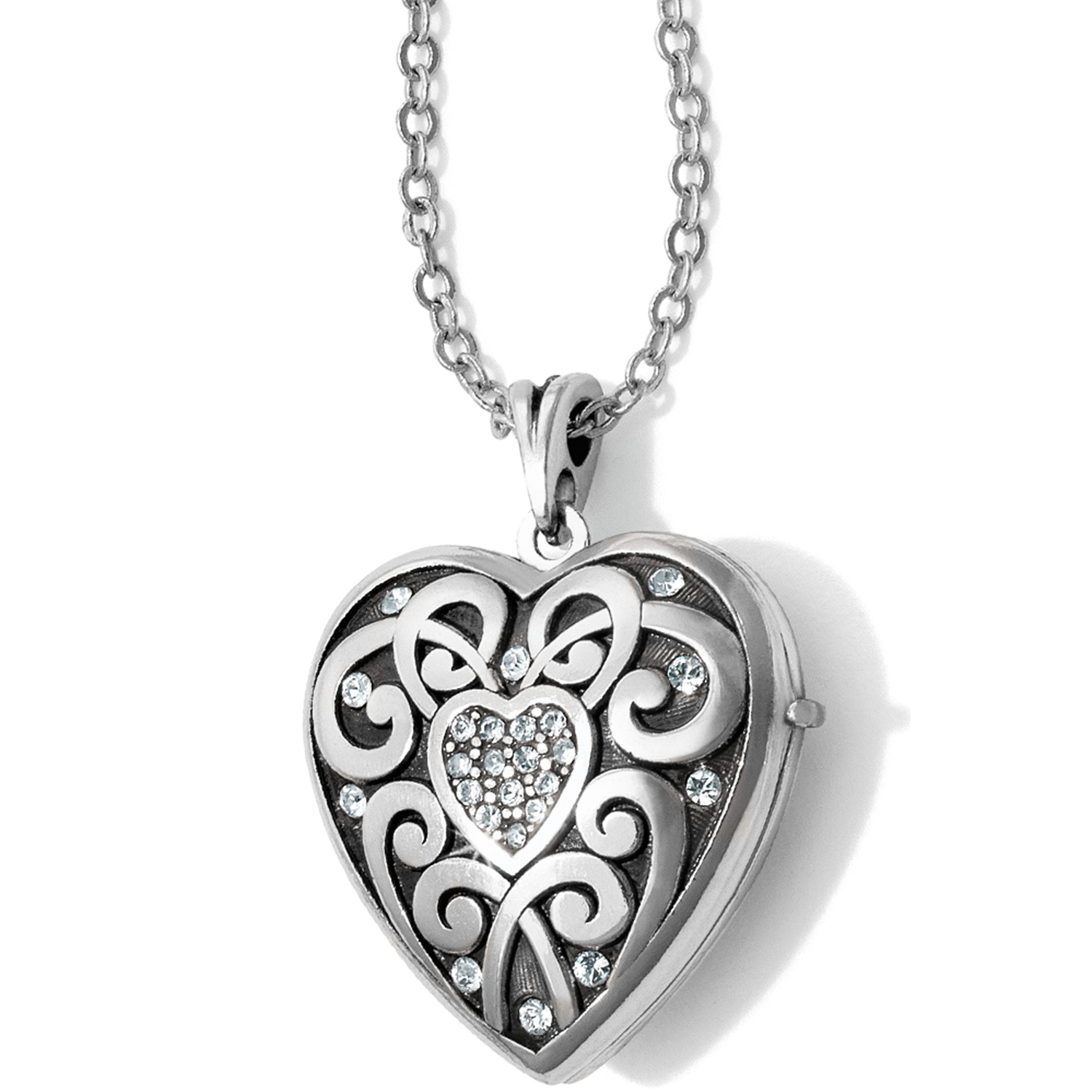 sterling necklaces zirconia cubi silver necklace light heart locket blue lockets clear assortment with