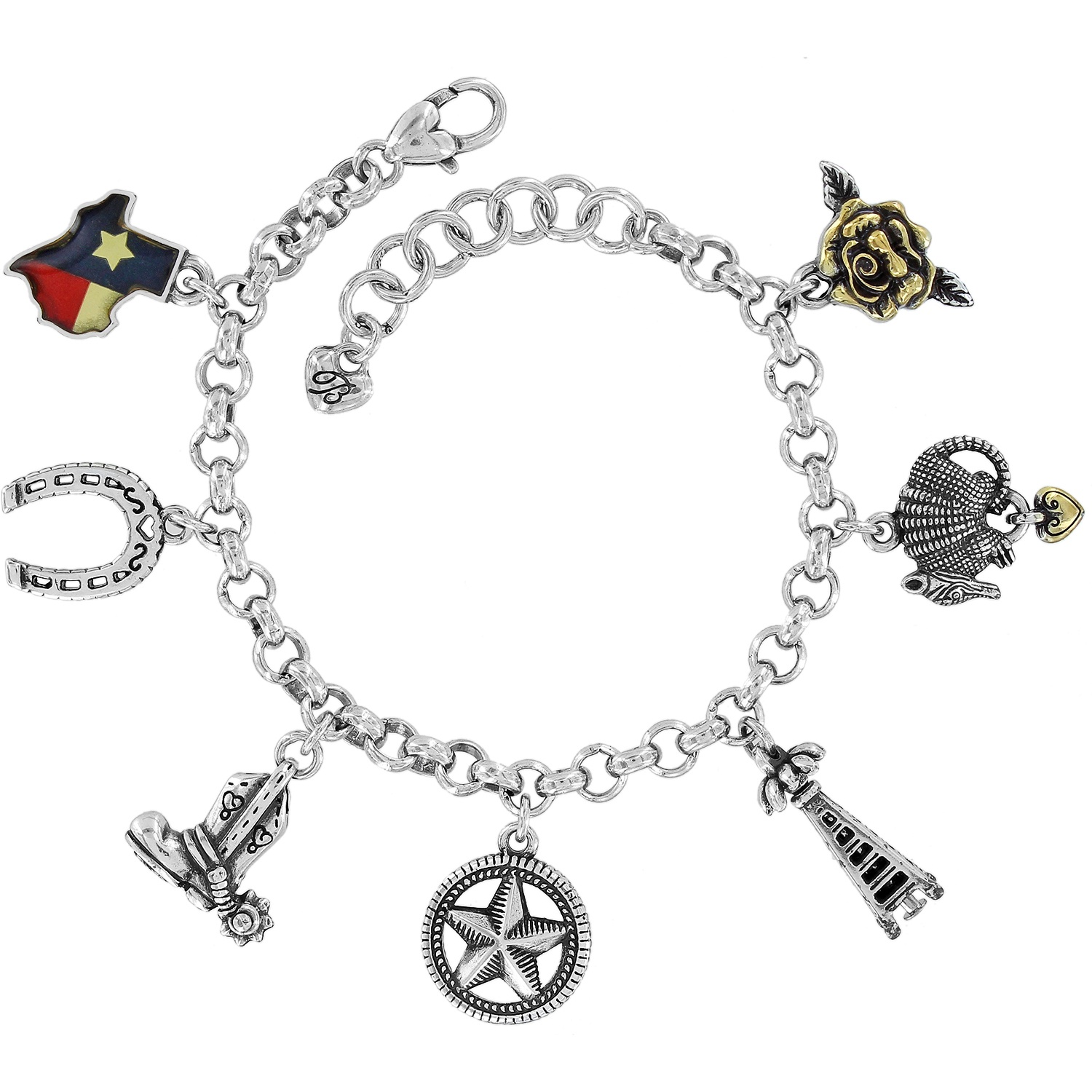 Texas State Charm Bracelet Alternate View 1