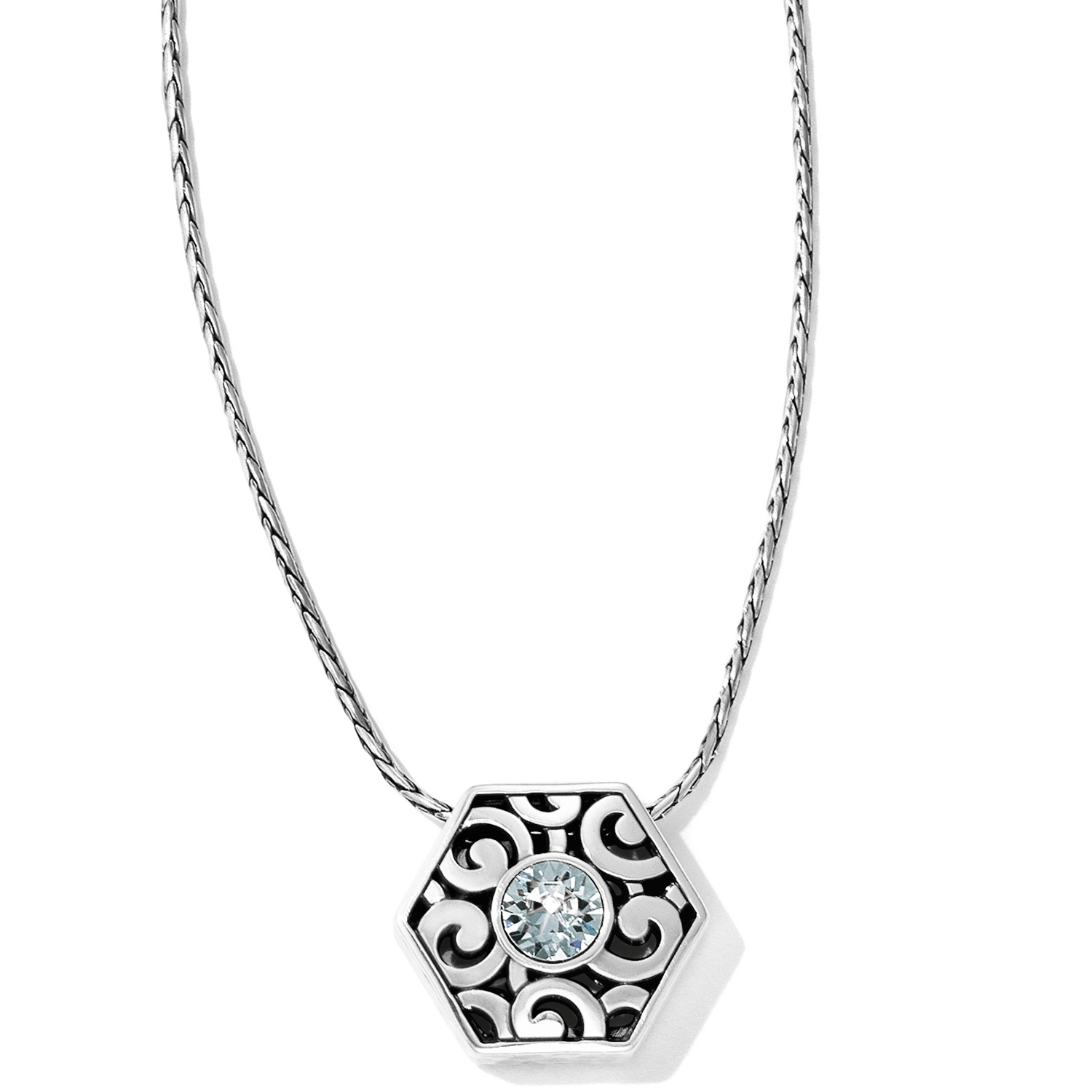 diamond necklace en round blue birks solitare solitaire pendant
