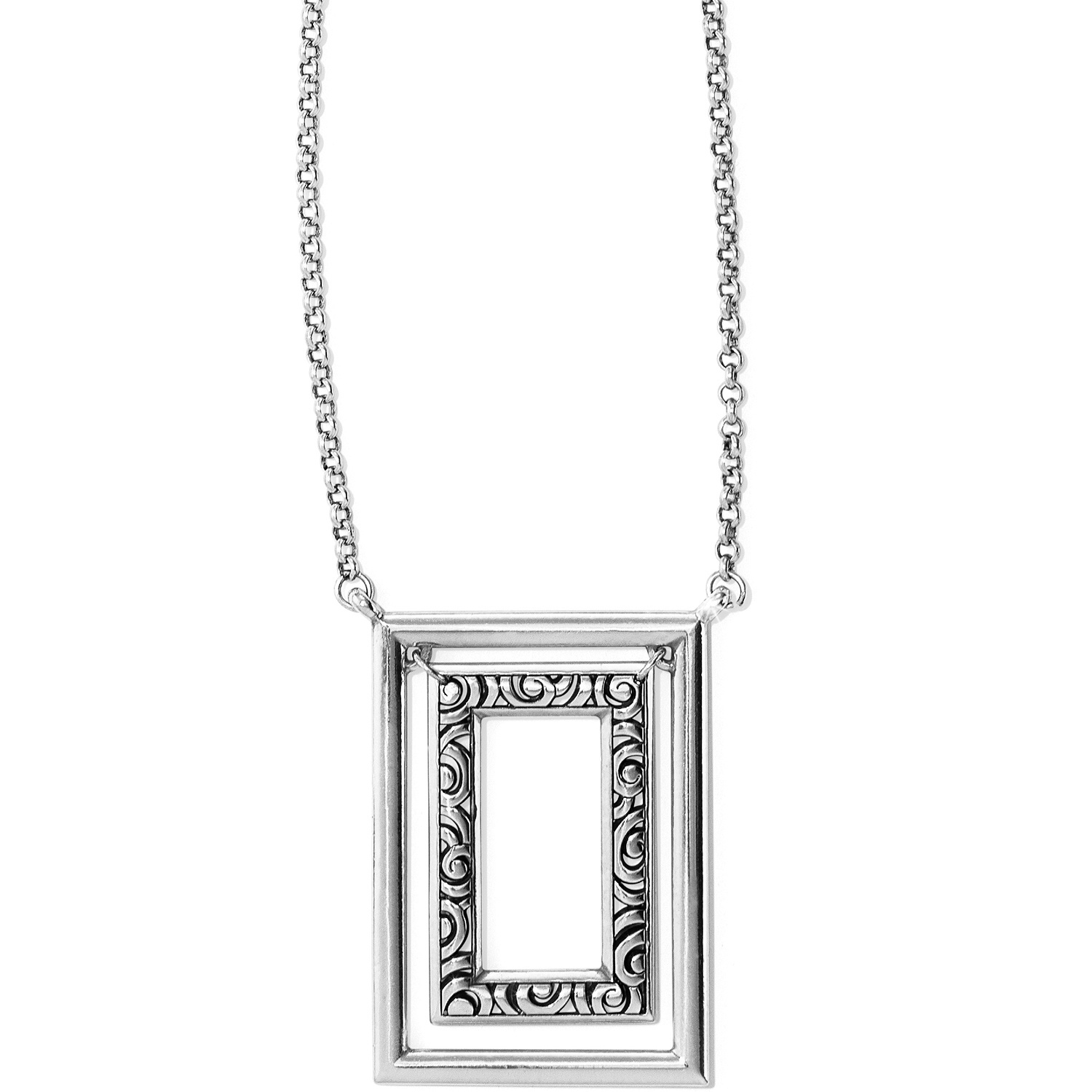 rectangle oceanj plated necklace shop deco and long echo jewellery sterling silver gold