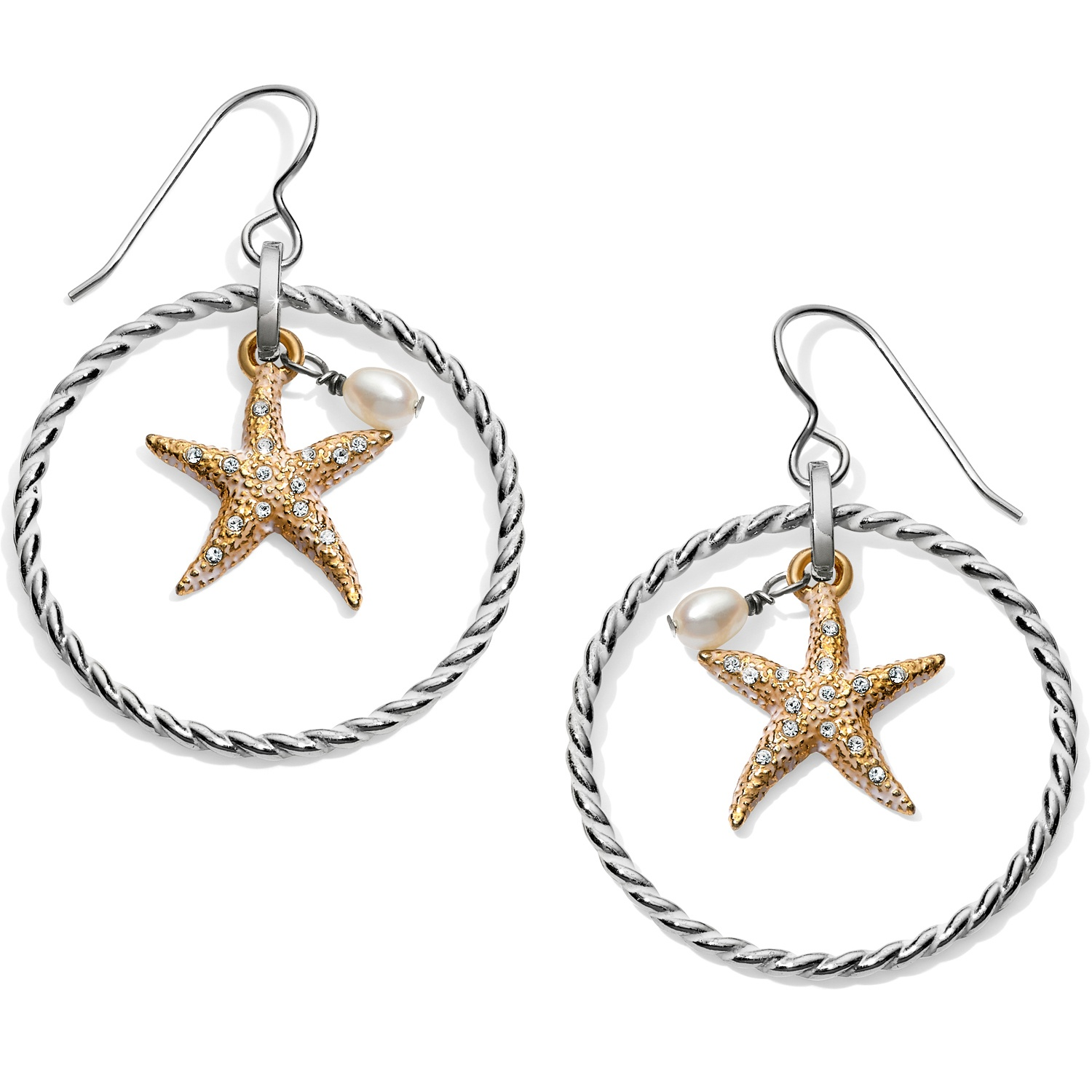 3bbede92b Under the Sea Under The Sea Floating Starfish French Wire Earrings ...