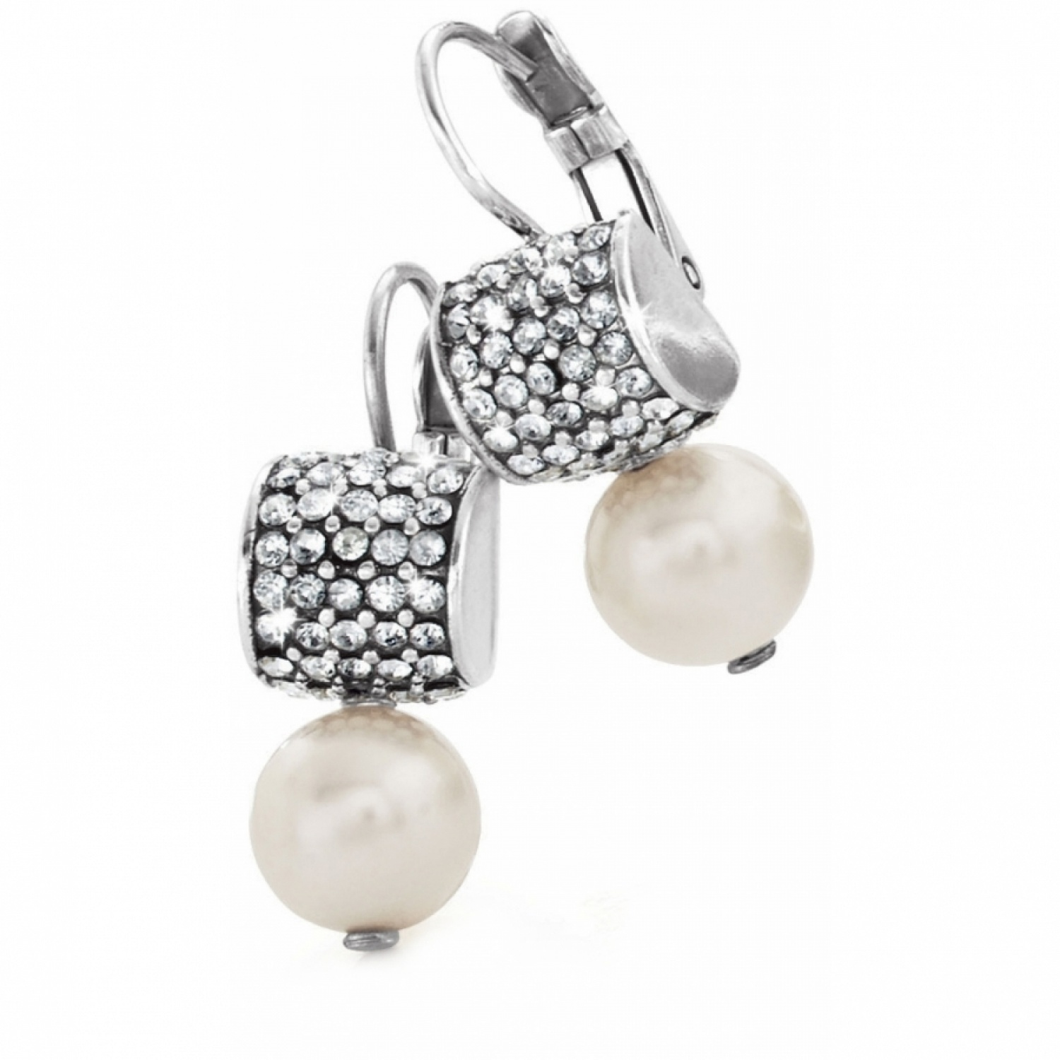 Meridian Meridian Pearl Leverback Earrings