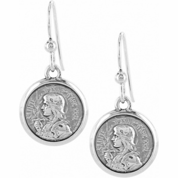 Devotion Joan Of Arc French Wire Earrings