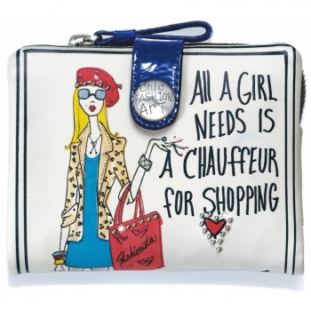 Fashionista Shopaholic Medium Wallet