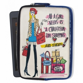 Fashionista Shopaholic Mini iPad Case