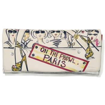 Fashionista On The Prowl Large Wallet