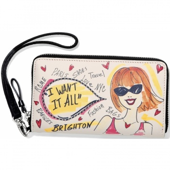 Fashionista I Want It All Medium Tech Wallet