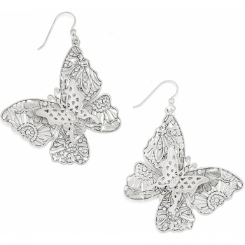 Lace Wings French Wire Earrings