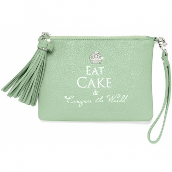 Pretty Witty & Wise Eat Cake Small Tassel Pouch