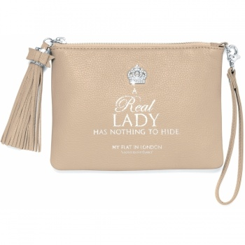 Pretty Witty & Wise A Real Lady Small Tassel Pouch