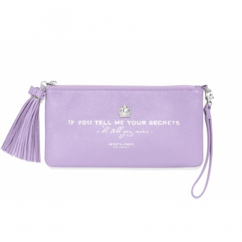 Pretty Witty & Wise Tell Me Your Secrets Large Tassel Pouch