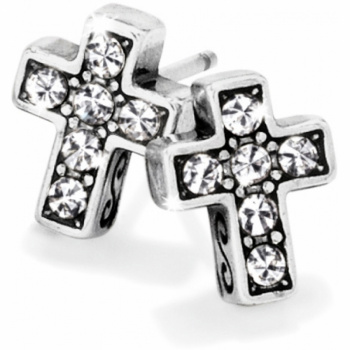 Starry Night Cross Mini Post Earrings
