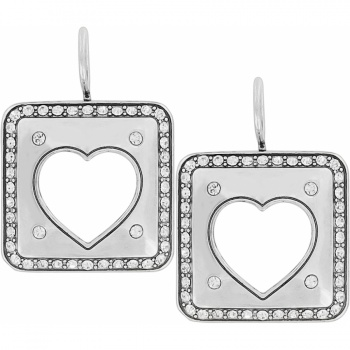 Open Hearted French Wire Earrings