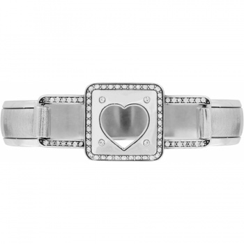 Open Hearted Hinged Bangle