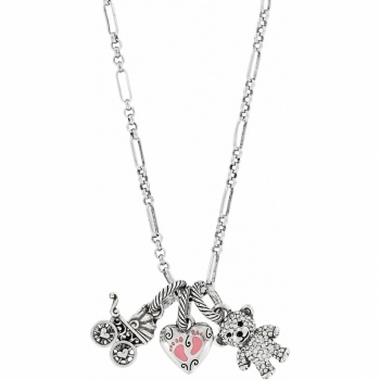 Sweet Baby Girl Long Charm Necklace