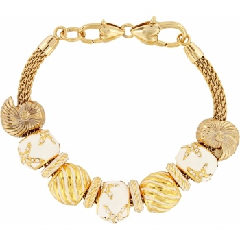 Golden Waves Charm Bracelet