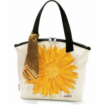 Vera Sunset Sunflower Satchel