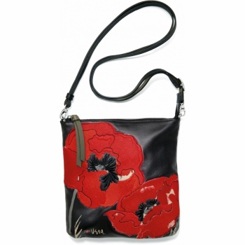 Vera Winter Garden Poppy Mini Messenger