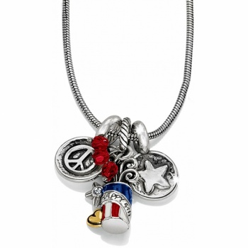 Fireworks Long Charm Necklace