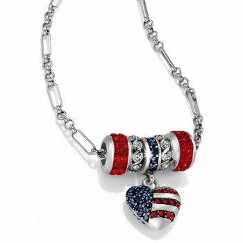 Patriotic Long Charm Necklace