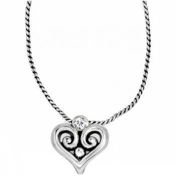 Alcazar Alcazar Heart Badge Clip Necklace