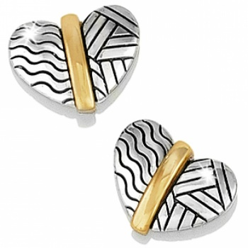 Acoma Heart Post Earrings