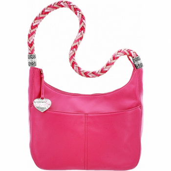 Power Of Pink Barbados Ziptop Hobo
