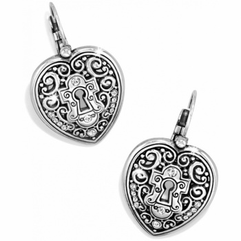 Heart 'N' Key Leverback Earrings