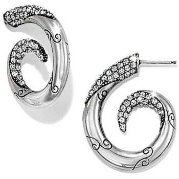 Cristalina Post Hoop Earrings