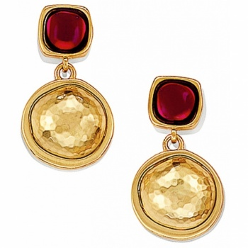 Versailles Burgundy Post Drop Earrings