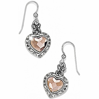 Rosy Heart French Wire Earrings