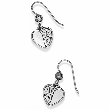 Barbados Heart French Wire Earrings