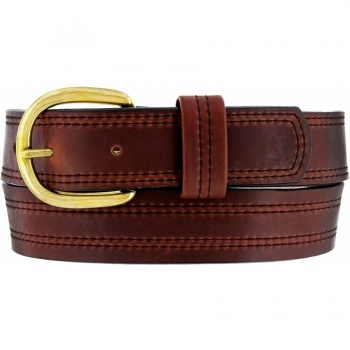 X Stitching Oiltan Belt