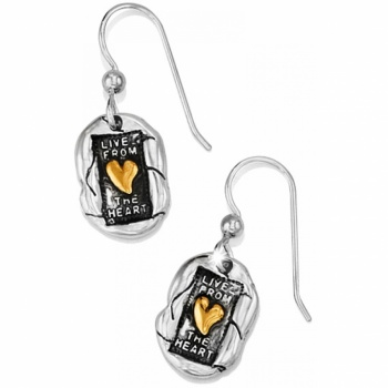 Devotion Living Heart French Wire Earrings