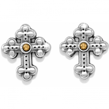 Luna Cross Mini Post Earrings