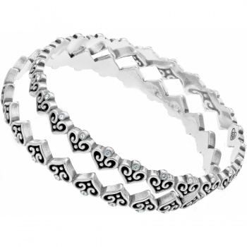 Alcazar Alcazar Heart 2 Piece Bangle