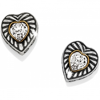 Heiress Heart Post Earrings