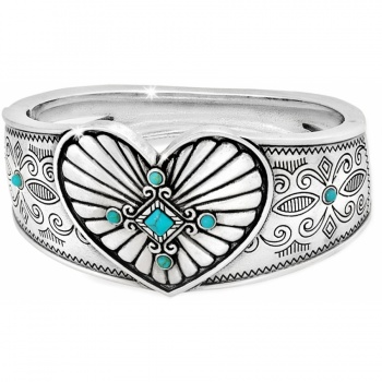 Indie Concho Heart Hinged Bangle