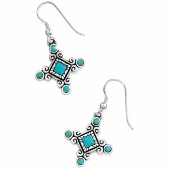 Indie Cross French Wire Earrings