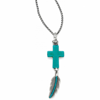 Loretto Cross Loretto Feather Necklace