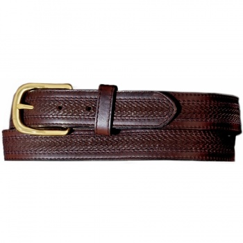 Oil Tan Embossed w/ Stitching Belt