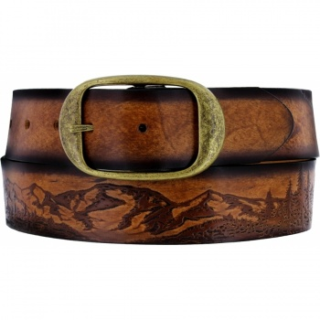 Eagle & Sun Etching Belt