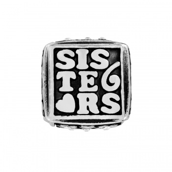 Sisters Forever Cube Bead