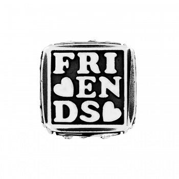 Message Cube beads Friends Forever Cube Bead